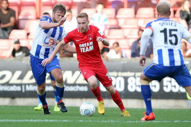 James Brophy struck the winner as Leyton Orient beat Eastleigh to climb back to the top of the National League. Picture: Simon O'Connor
