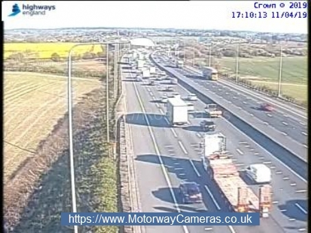 Traffic on the M25 near j22. Photo: Highways England