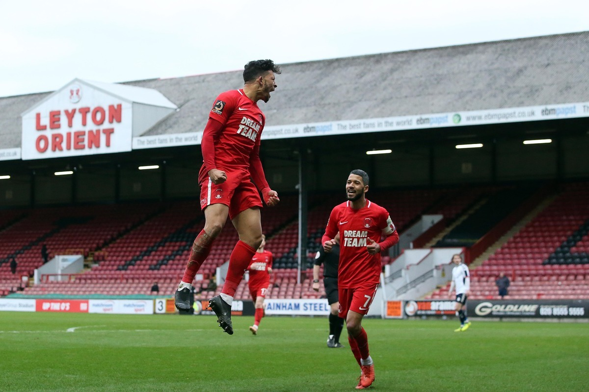 Macauley Bonne netted a late penalty as Leyton Orient came back to beat Sutton United. Picture: Simon O'Connor