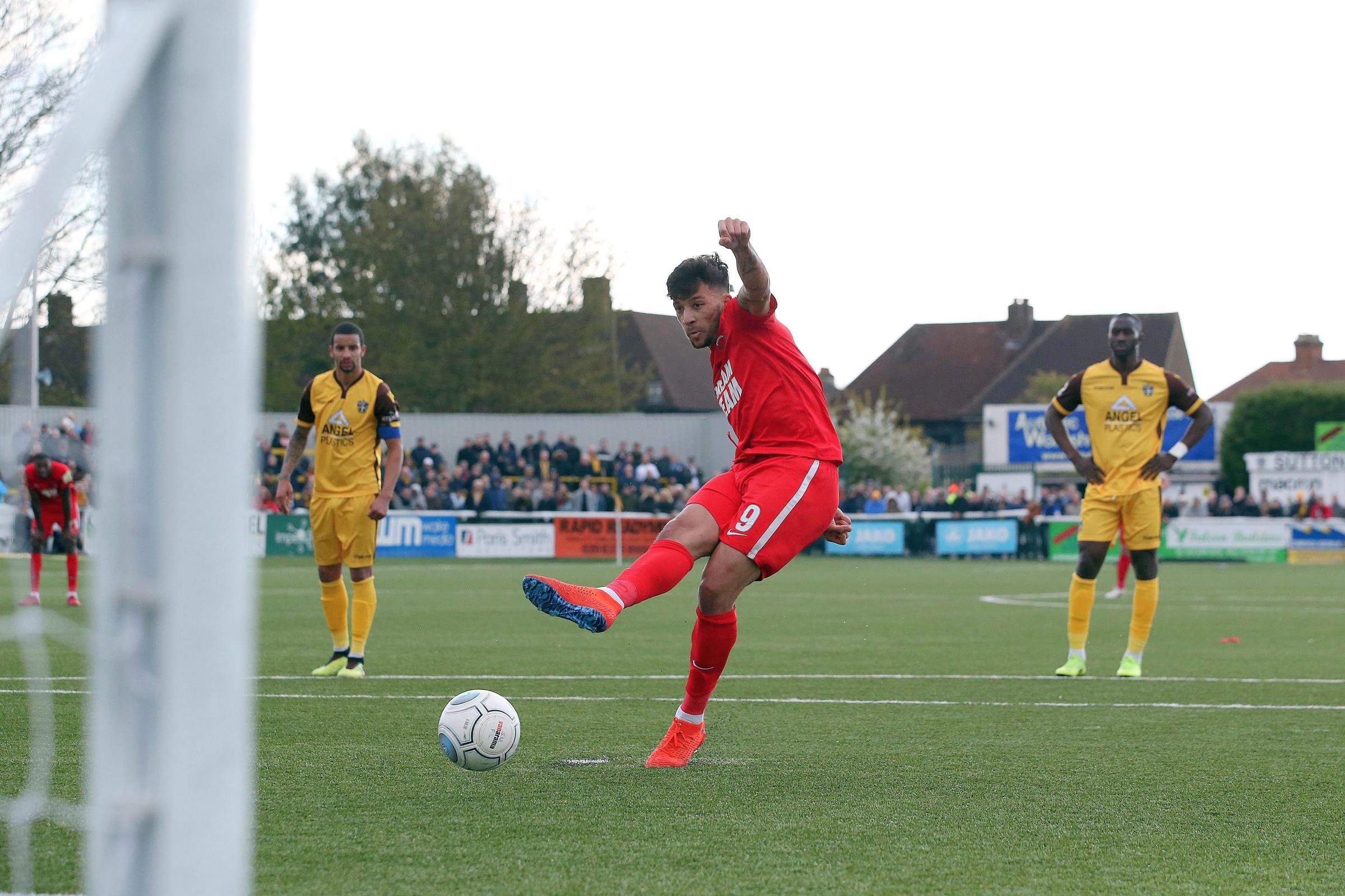 Macauley Bonne struck a late winner for Leyton Orient in their National League success over Sutton United. Picture: Simon O'Connor