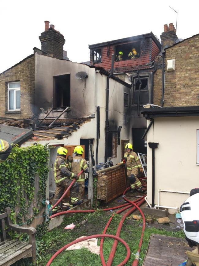 Suspected gas explosion may have caused house fire