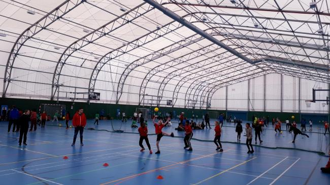 Dodgeball tournament held at Leyton's Score Centre for pupils from 12 primary schools across Waltham Forest.