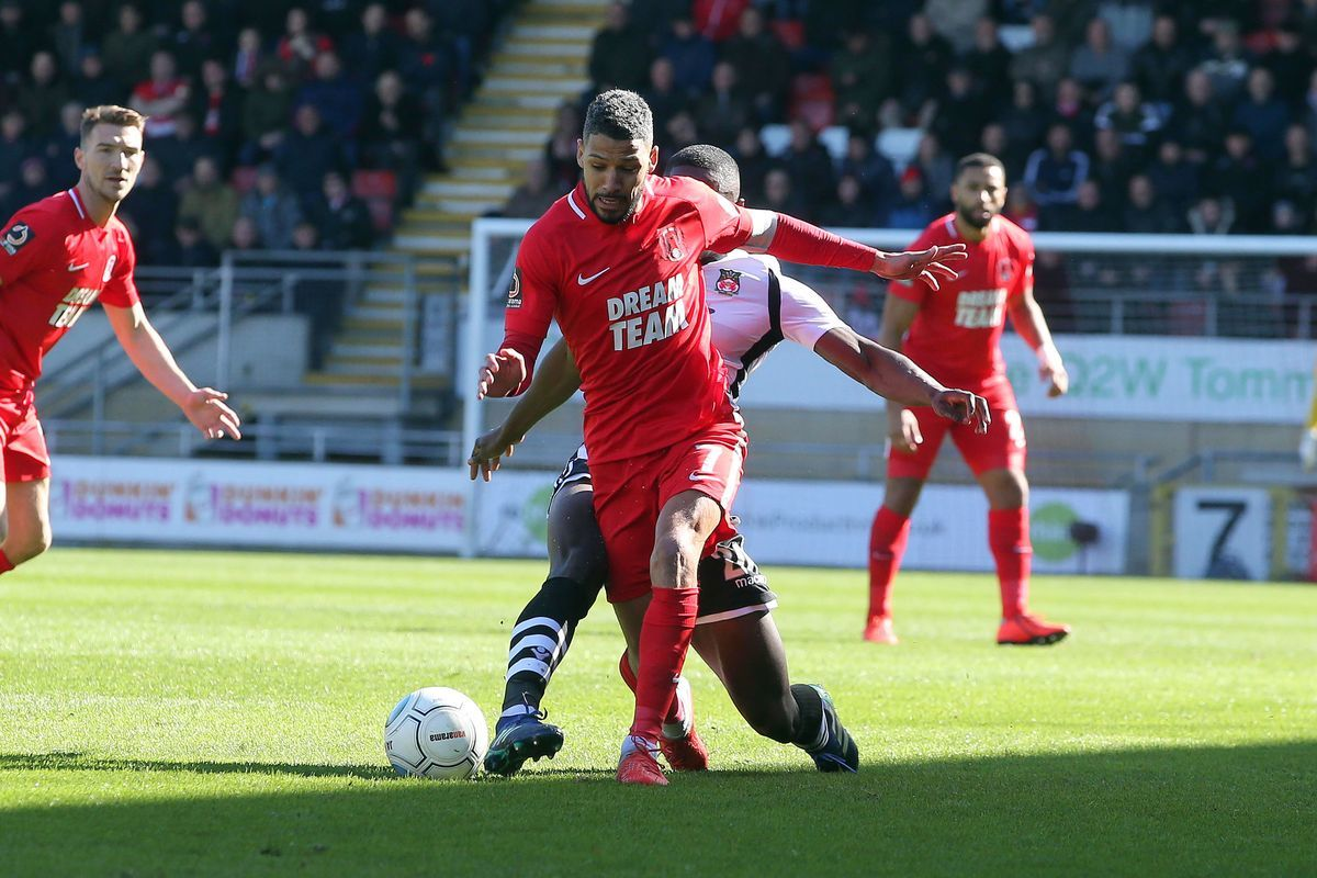 Jobi McAnuff in action for Leyton Orient against Wrexham in the National League. Picture: Simon O'Connor