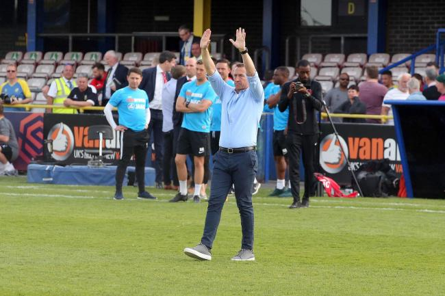 Justin Edinburgh after the National League match against Solihull Moors. Picture: Simon O'Connor