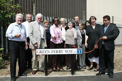 The official opening of Green Ferry Way in Walthamstow