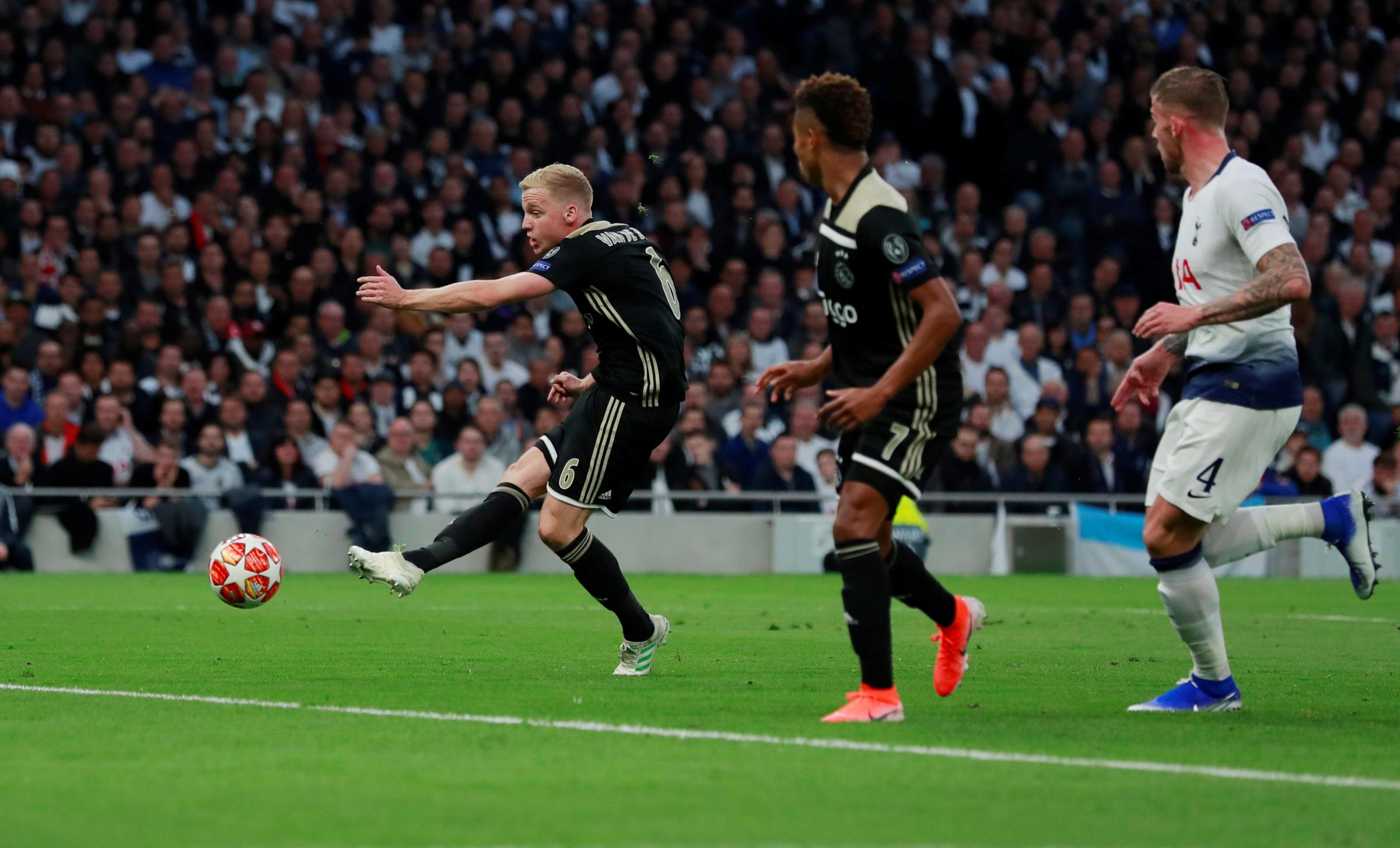 Tottenham lost to Ajax in the Champions League. Picture: Action Images