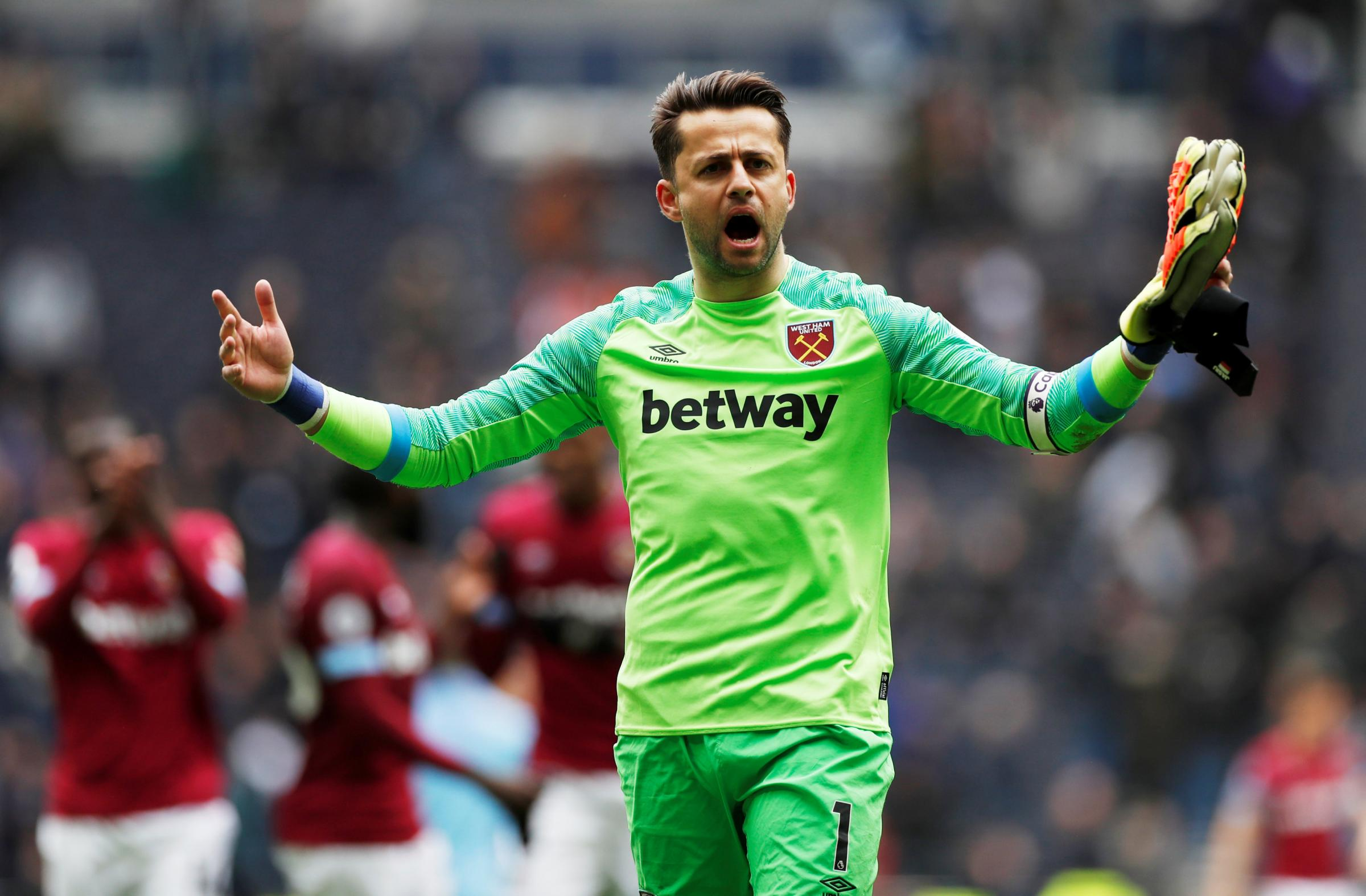 'He has been very good': Manuel Pellegrini has praised the consistency of Lukasz Fabianski. Picture: Action Images