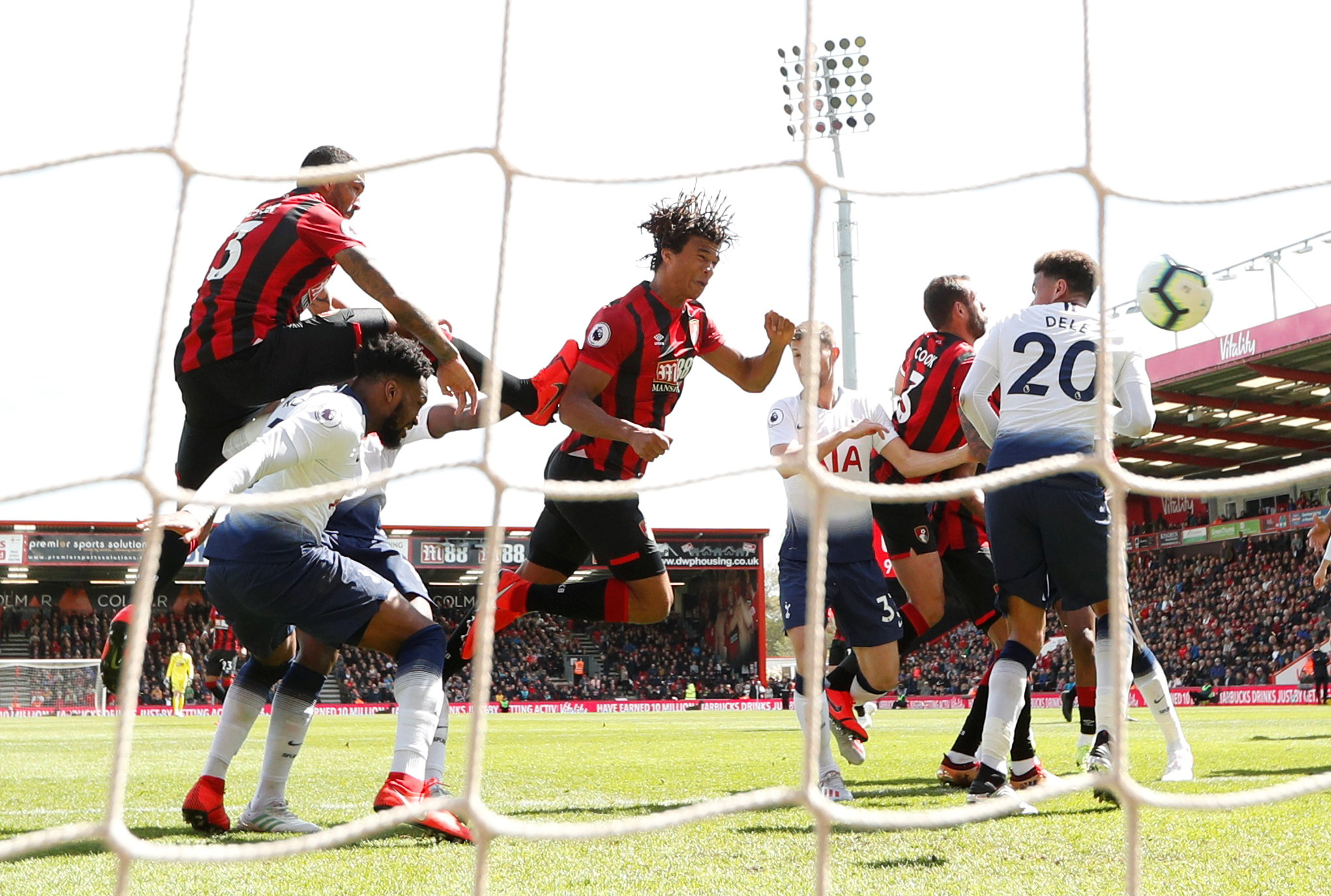 Nathan Ake scores Bournemouth's injury-time winner. Picture: Action Images