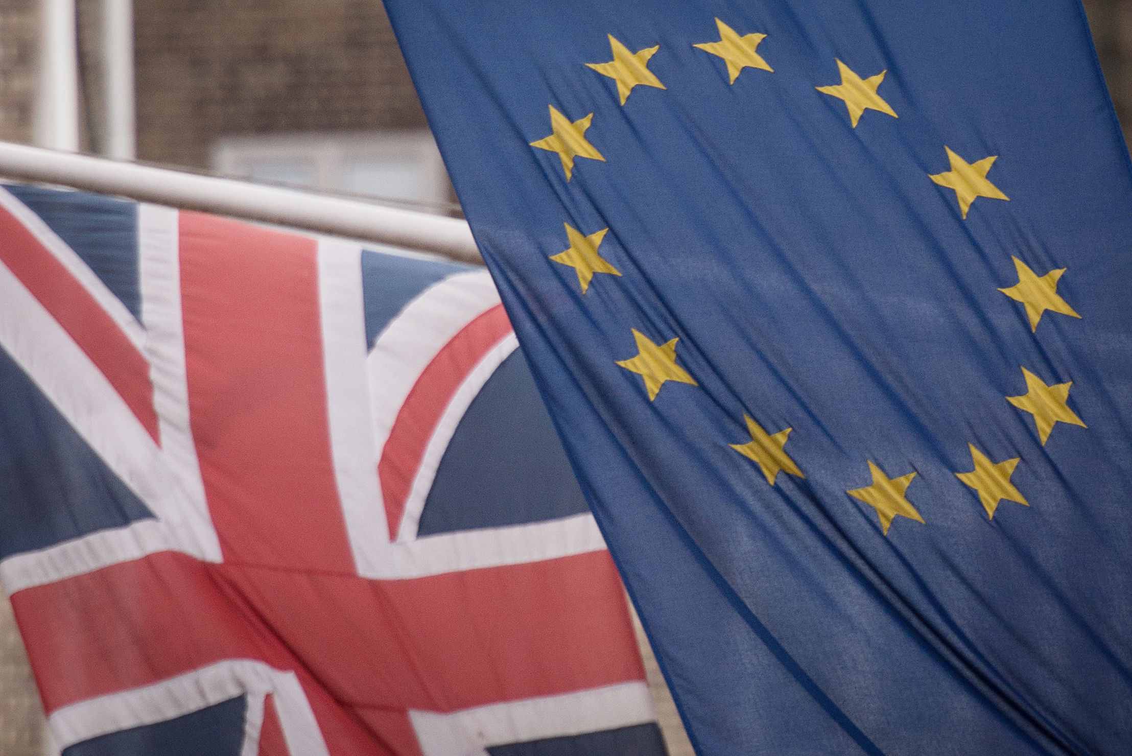 File photo dated 17/2/2016 of the EU and Union flags. MPs who want to block a no-deal Brexit will have to either vote for Theresa May's Withdrawal Agreement or a replacement to do it, Andrea Leadsom has warned. PRESS ASSOCIATION Photo. Issue date: Sun