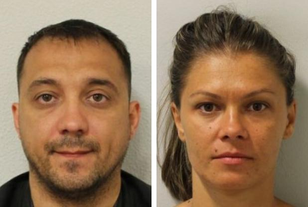 Mihai Cirstoiu, left, and Maria Bilici must pay back £500,000. Credit: Met Police