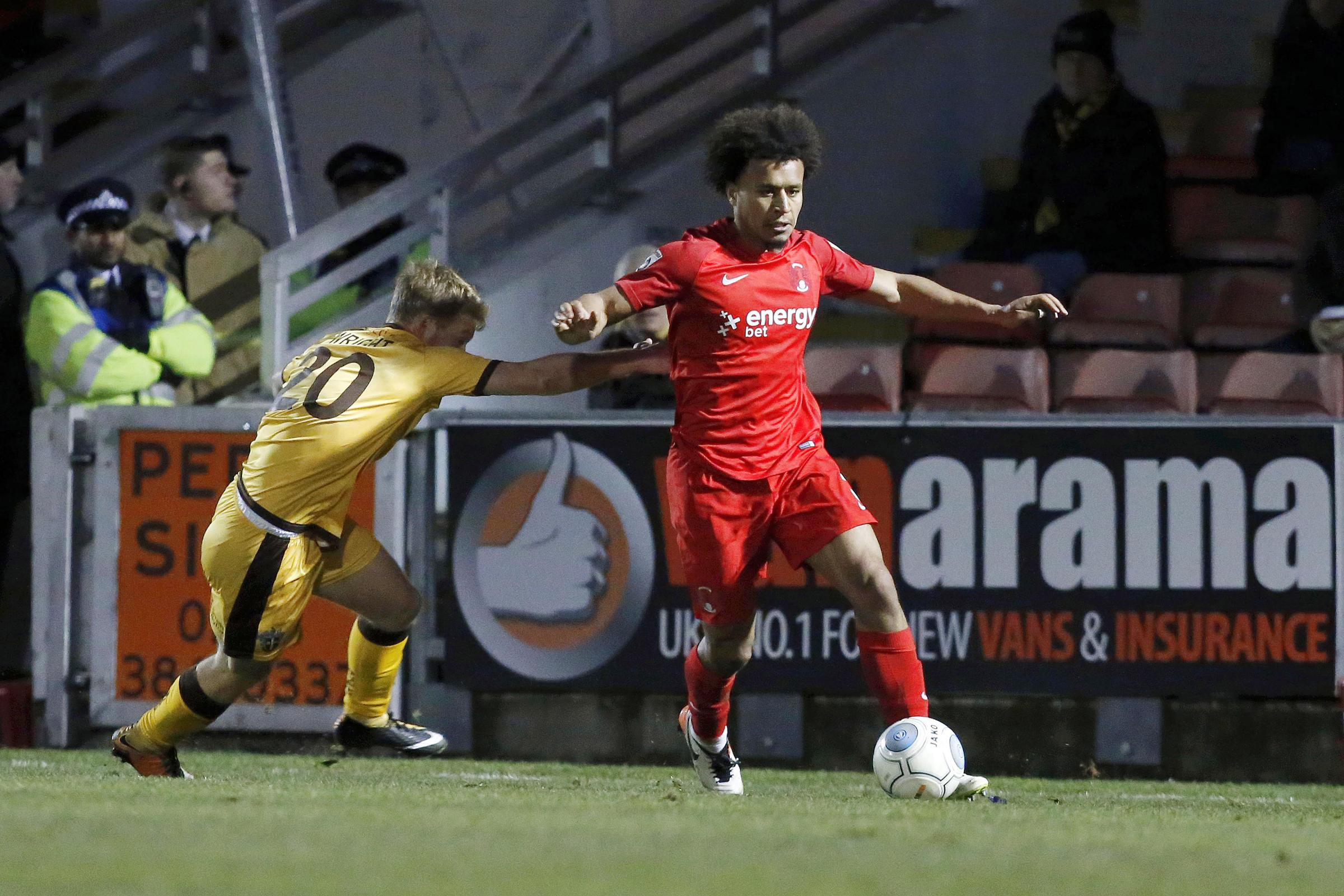 Joe Widdowson in action for Leyton Orient in their National League game against Sutton United. Picture: Simon O'Connor