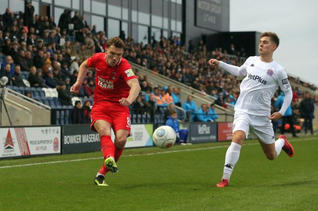 Craig Clay in action against AFC Fylde. Picture: Simon O'Connor