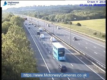 It all looks clear on the M1, photo by Highways England