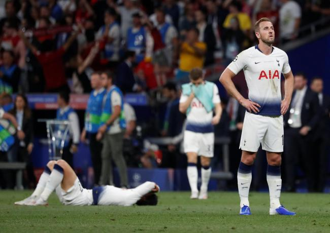 Harry Kane after Spurs' Champions League final defeat on Saturday. Picture: Action Images