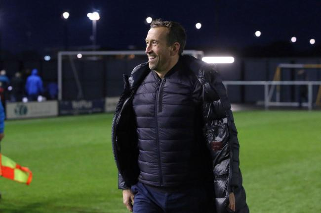 Justin Edinburgh after the National League win against AFC Fylde. Picture: Simon O'Connor